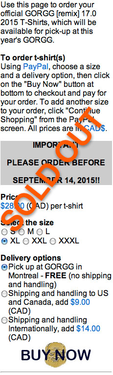 T-shirt sold out